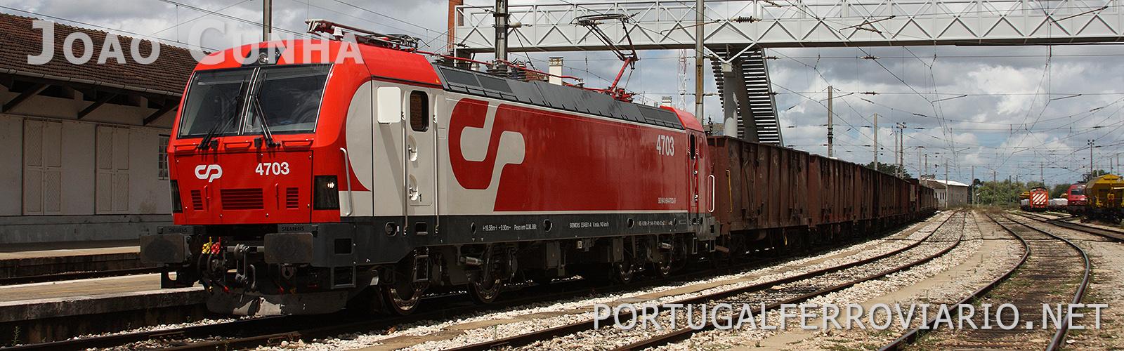 Uma das 25 locomotivas 4700 que fazem parte da frota da CP Carga.