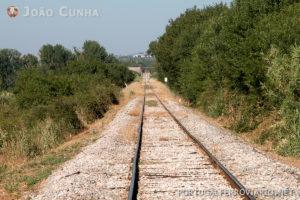 O estado da via junto à fronteira com Espanha.