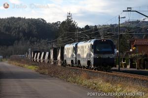 Na via estreita há dois operadores: Feve e Euskocargo.